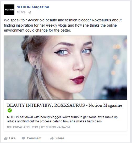 Interview With Roxxsaurus: Notion Magazine – Sarah Akomanyi